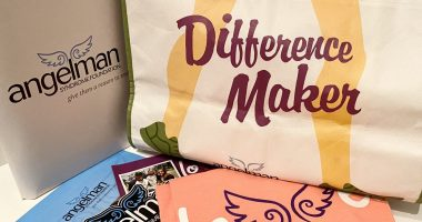 ASF Conference \ Angelman Syndrome News \ An assortment of goodies from a previous ASF Walk, including a handbag and various informative booklets