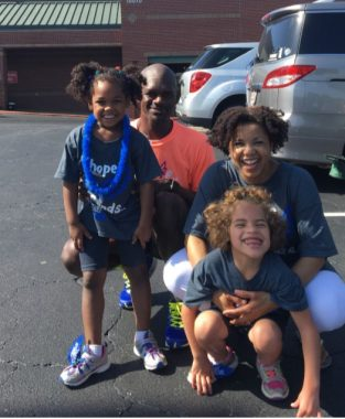 ASF conference \ Angelman Syndrome News \ The Johnson family poses for a happy photo during the 2018 ASF Walk in Atlanta