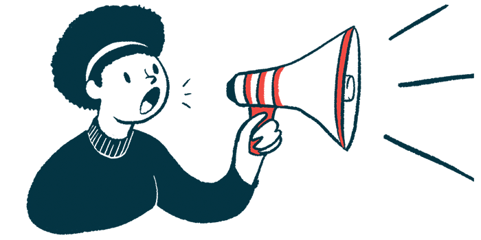 GTX-102 | Angelman Syndrome News | Clinical trials | Illustration of woman speaking through megaphone